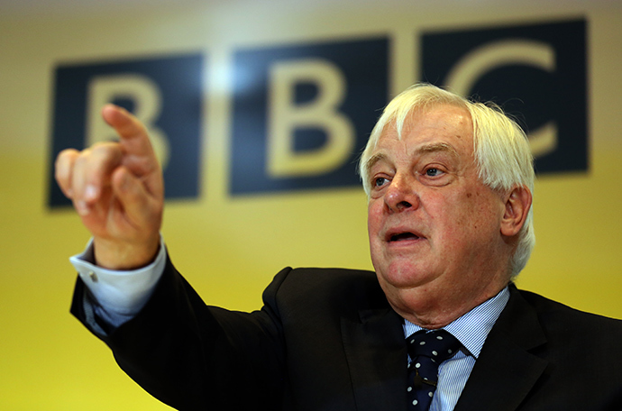 BBC Trust Chairman Chris Patten takes a question during a press conference at BBC Broadcasting House in London on December 19, 2012 on the release of the Pollard Report into the BBC's handling of the child-sex abuse claims against late presenter Jimmy Savile (AFP Photo)