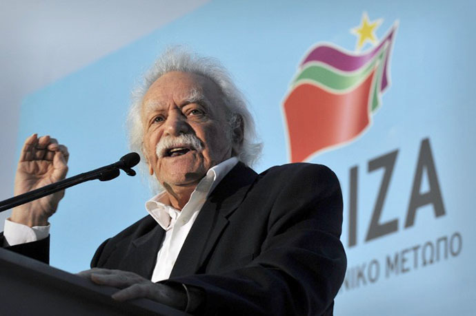 Greek resistance hero, politician and writer Manolis Glezos. (AFP Photo / Louisa Gouliamaki)
