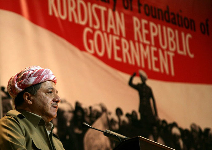 Iraqi Kurdish leader Massud Barzani (AFP Photo / Safin Hamed)