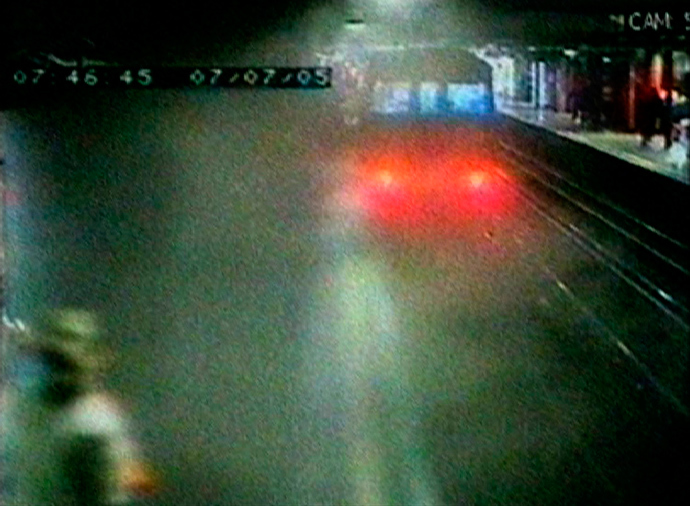 A video grab from CCTV shows smoke and dust filling the platform moments after one of the 2005 July 7 bombers, Shehzad Tanweer, detonated his bomb on an eastbound Circle Line train between Liverpool Street and Aldgate stations (Reuters)