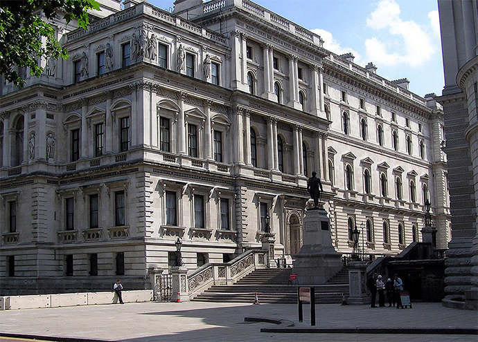 The Foreign and Commonwealth Office, Whitehall, London (Image from wikipedia.org)