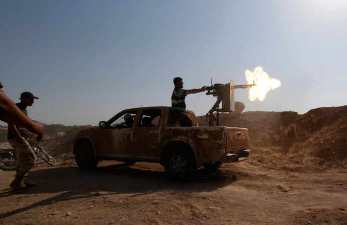 Free Syrian Army (FSA) fighters (Reuters / Khalil Ashawi)