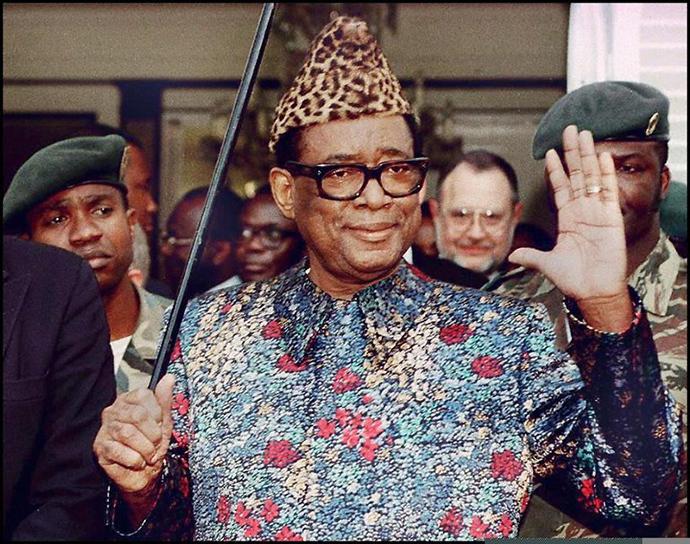 Zairean president, Mobutu Sese Seko (AFP Photo / Eric Feferberg)