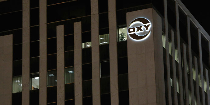 The Occidental Petroleum Corp headquarters is pictured in Los Angeles, California (Reuters / Mario Anzuoni)