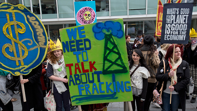 UK enslaved to money... and fracking