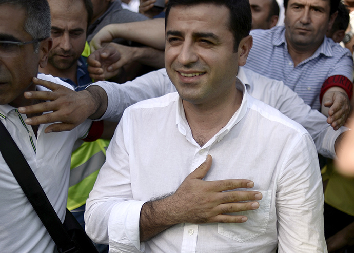 Selahattin Demirtas, chairman of Peace and Democracy Party (BDP) (AFP Photo / Stephane De Sakutin)