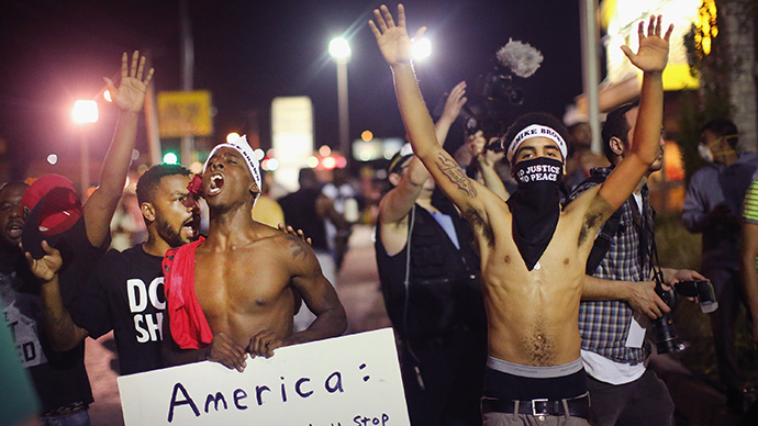 ​Ferguson protests: 'The militarized policing takes many forms'