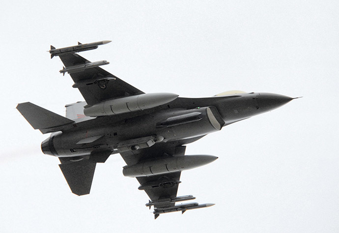F-16 fighter jet (AFP Photo / Trond Hoeyvik)