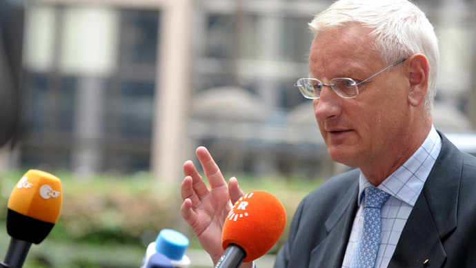 Sweden's Foreign Minister Carl Bildt.(Reuters / Laurent Dubrule )