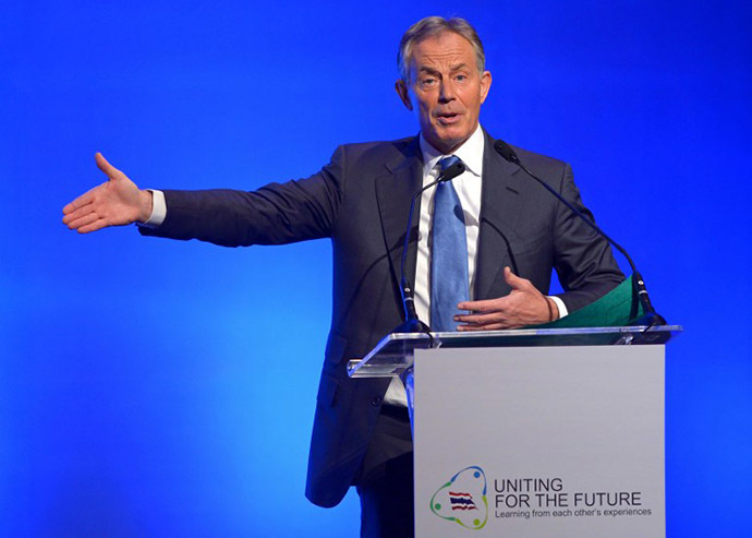 Former British Prime Minister Tony Blair (AFP Photo / Pornchai Kittiwongsakul)