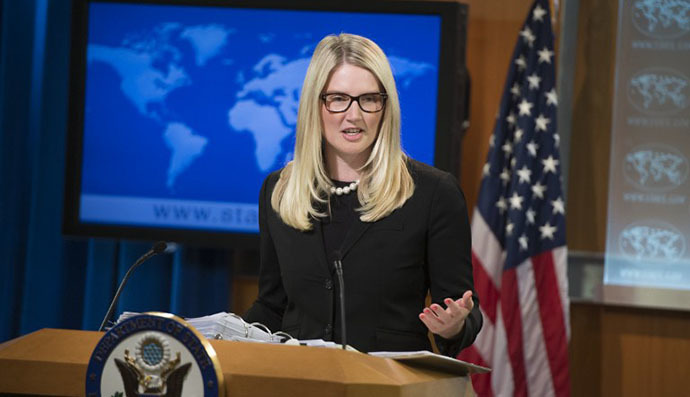 US State Department Deputy Spokesperson Marie Harf (AFP Photo / Saul Loeb)
