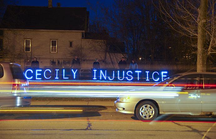 Cecily Injustice Streaks (Image from flickr.com / Light Brigading)