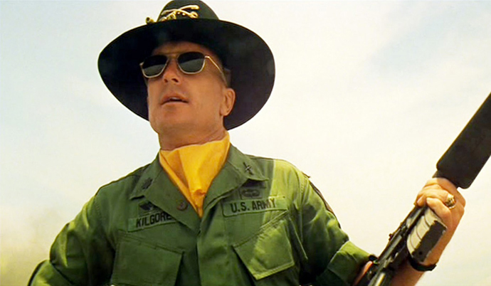 Lieutenant Colonel Kilgore, in Coppola's Apocalypse Now