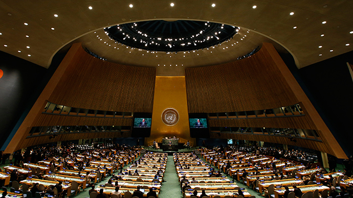 69th United Nations General Assembly at the U.N. headquarters in New York, September 24, 2014 (Reuters / Mike Segar)