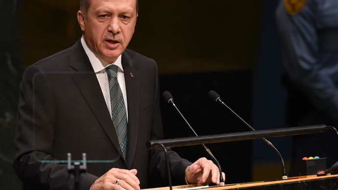 President of Turkey Tayyip Erdogan (AFP Photo / Don Emmert)