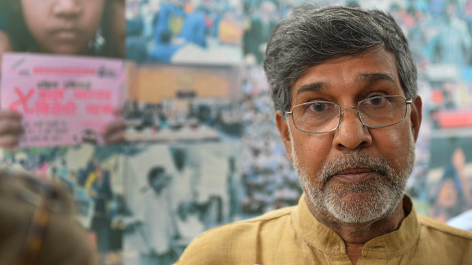 Kailash Satyarthi (AFP Photo / Chandan Khanna)