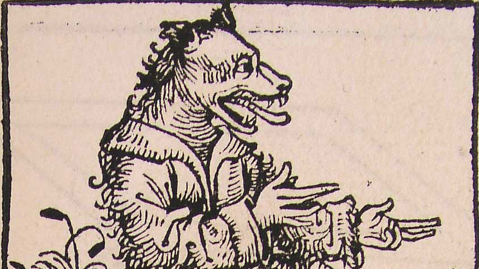 A cynocephalus. From the Nuremberg Chronicle (1493). Digital source: Beloit College