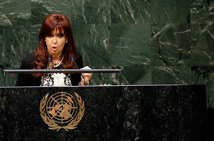 Argentina's President Cristina Fernandez de Kirchner (Reuters / Mike Segar)