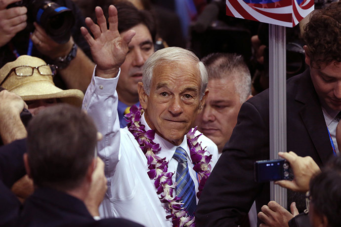 Former Republican presidential candidate, Representative Ron Paul. (Reuters/Jason Reed)