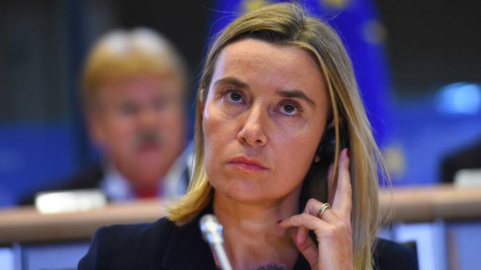 Federica Mogherini.(AFP Photo / Emmanuel Dunand)