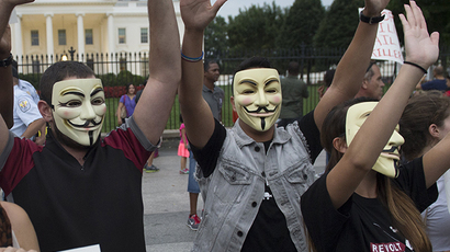 'Anonymous to wake up US citizens'