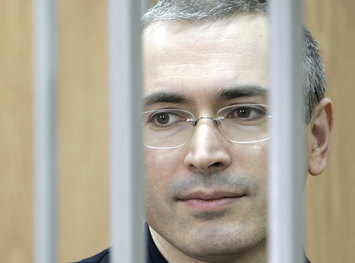A picture taken 30 May 2005 shows Imprisoned former head of the Yukos oil company, Mikhail Khodorkovsky. (AFP Photo/Tatyana Makeyeva)