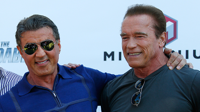 Action stars Arnold, Sly chip in for the IDF
