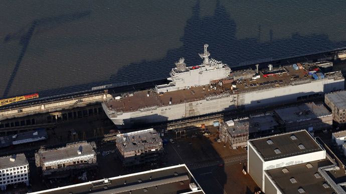 'No one else will buy Mistral that France built for Russia'