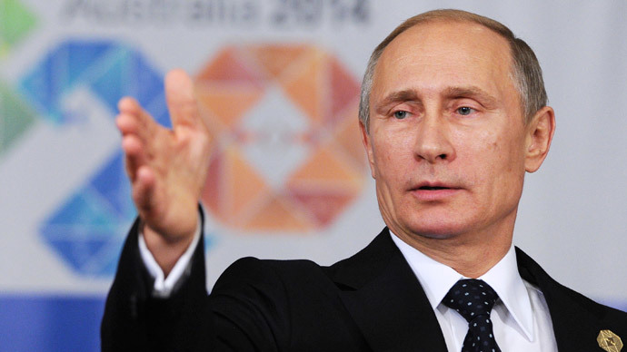 Russia's President Vladimir Putin speaks at a news conference at the end of the G20 summit in Brisbane November 16, 2014.(Reuters / Mikhail Klimentyev)