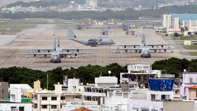 'Okinawans sick and tired of US military presence'