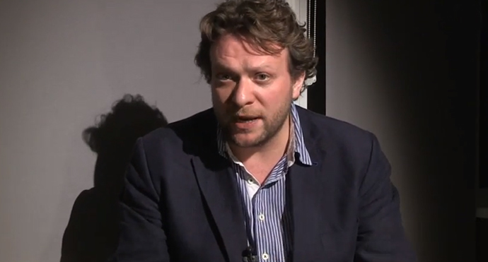 Peter Pomerantsev, author of a forthcoming book asserting that Putin's Russia is a post-modern dictatorship (Screenshot from youtube.com)