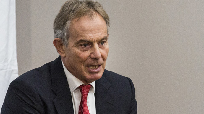 ormer Prime Minister of the United Kingdom Tony Blair (AFP Photo/Andrew Burton)