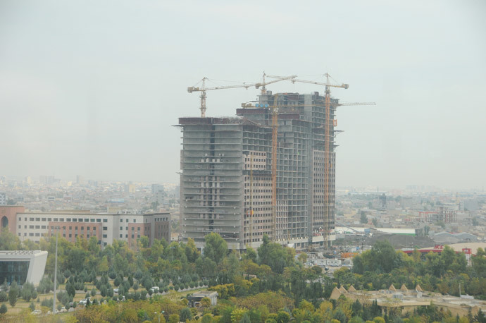 Corporate Erbil going up (Photo by Andre Vltchek)
