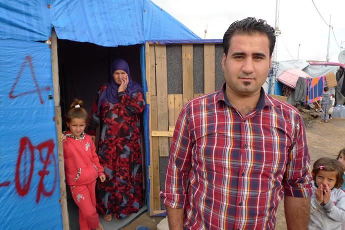 Mr. Ali, a Syrian refugee (Photo by Andre Vltchek)
