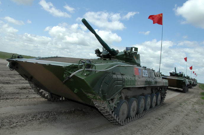 A Chinese Type 86A IFV seen during the final rehearsal of the joint Russia-China anti-terror exercise Peace Mission (RIA Novosti)