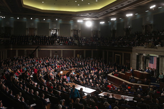 A joint session of Congress in the House Chamber at the U.S. Capitol (Mark Wilson/Getty Images/AFP)