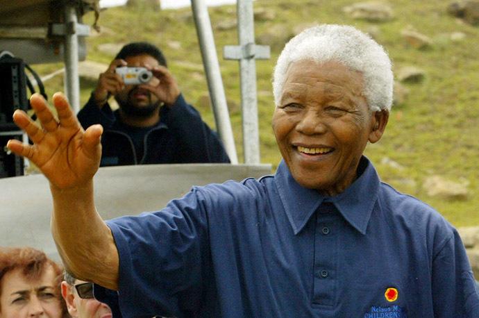 Nelson Mandela (Reuters/Mike Hutchings)