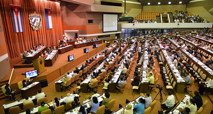 General view during the Cuban Parliament Annual Session (AFP Photo)