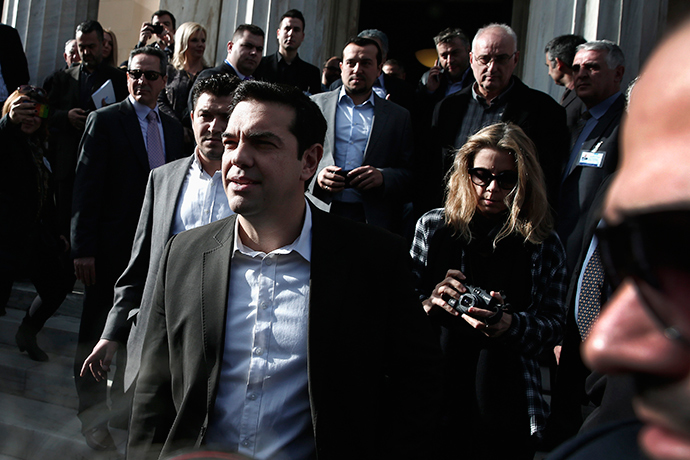Alexis Tsipras, opposition leader and head of radical leftist Syriza party, leaves the parliament building after the last round of a presidential vote in Athens December 29, 2014 (Reuters / Alkis konstantinidis)