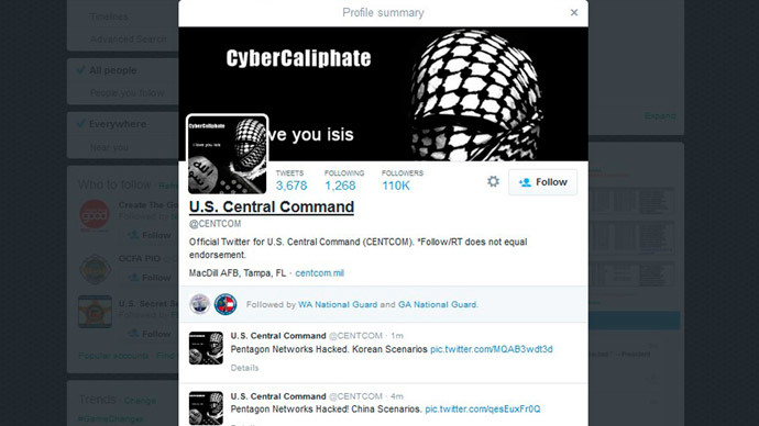 Pentagon twitter hack: 'What the command is doing there?'