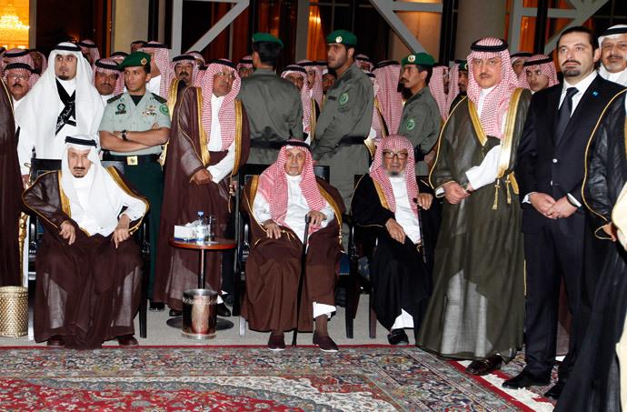 Saad al-Hariri (R), son of former Lebanese prime minister Rafiq Hariri, with other Saudi royal family members (Reuters / Hamad I Mohammed)