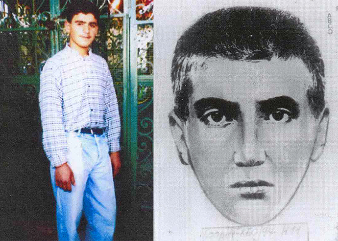 An undated handout combination photo released in Buenos Aires on November 9, 2005 shows Ibrahim Hussein Berro, who has been identified by Argentine prosecutor Alberto Nisman as a Hizbollah militant and the suicide bomber responsible for the 1994 car-bomb attack on the AMIA Jewish community center (Reuters / Argentine Prosecutor's Office)