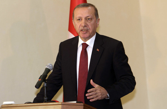 Turkey's President Tayyip Erdogan addresses a news conference in Somalia's capital Mogadishu January 25, 2015. (Reuters/Feisal Omar)