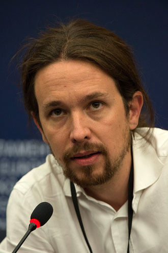 Pablo Iglesias Turrión, leader and founder of Podemos (Photo from Wikipedia.org)