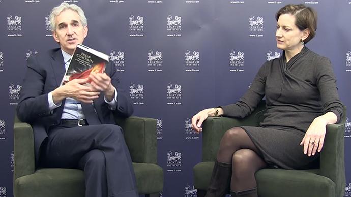 Former Legatum Institute President and CEO Jeffrey Gedmin interviewing Legatum's Director of Global Transitions, Anne Applebaum