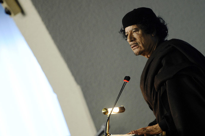Former Libya's leader Muammar Gaddafi. (Reuters/Filippo Monteforte)