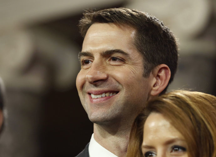 U.S. Senator Tom Cotton (R-AR) (Reuters/Larry Downing)