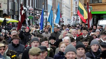 Riga Nazi vets parade 'reinterpretation of history for political purposes'