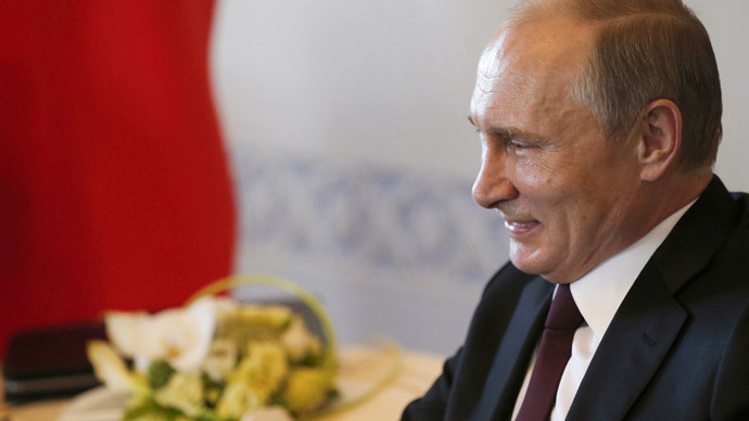 Putin looking very well for a man who died last week