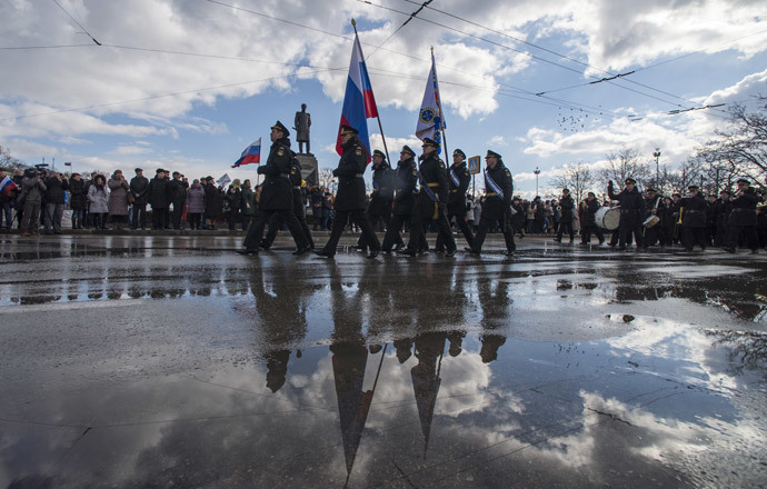 Celebrating the first anniversary of the Crimean Spring in Sevastopol. (RIA Novosti / Evgeny Biyatov)